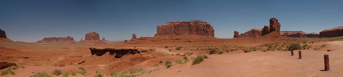 John Ford Point Monument Valley Panorama stock afbeeldingen