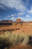 John Ford Point, Monument Valley Tribal Park, A. Late afternoon light casts warm color and striking shadows across John Ford Point in Monument Valley Tribal Park Royalty Free Stock Photography