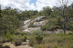 John Forrest National Park rocky landscape Royalty Free Stock Images