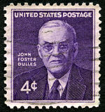 John Foster Dulles US Postage Stamp. UNITED STATES OF AMERICA - CIRCA 1960: A used postage stamp from the USA, depicting an illustration of historic American Stock Photo
