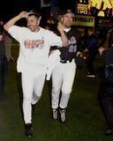 John Franco. New York Mets pitcher John Franco celebrates winning the 2000 National League championship.  (Image taken from color slide Royalty Free Stock Photography