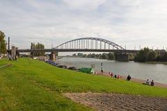 John Frost Bridge in Arnhem Stock Image