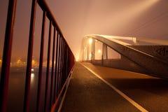 John Frost Bridge bij Nacht Stock Fotografie