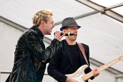 John Galea performs on stage at Northern Pride Stock Images