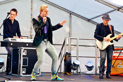 John Galea performs on stage at Northern Pride Royalty Free Stock Images