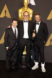 John Gilbert, Seth Rogen και Michael J αλεπού Στοκ φωτογραφίες με δικαίωμα ελεύθερης χρήσης