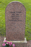 John Gray Grave in Edinburgh Stock Image