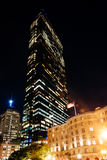 John Hancock Building nachts, in Boston, Massachusetts Stockfotografie
