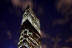John Hancock building at night. Nighttime photo of John Hancock building in Boston Royalty Free Stock Photos