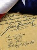 John Hancock's signature US constitution Stock Images