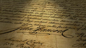 John Hancock Signature (Macro Close-up). Super, macro close-up of John Hancock's signature on the United States Declaration of Independence vector illustration