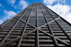John Hancock Tower. CHICAGO, IL - SEPTEMBER 18: John Hancock Center in Chicago, Illinois on September 18, 2016.  The 100 story skyscraper is one of the iconic Stock Image