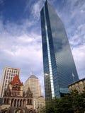 John Hancock Tower in de Vierkante Boston doctorandus in de letteren van Copley Stock Foto