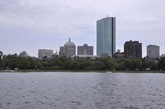 John Hancock Tower view from Charles river in Boston Massachusettes State of USA. John Hancock Tower view from Charles river in Boston  Massachusettes State of Stock Photography