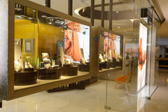 John Hardy store. HONG KONG - MAY 06, 2015: interior of the John Hardy store. John Hardy is a jewelry company, known for its Asian inspired designs and Royalty Free Stock Photos