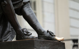 John Harvard Lucky Shoe Stock Photography
