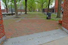 John Harvard Mall en Charlestown, Boston, mA, los E.E.U.U. foto de archivo