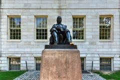 John Harvard Statue - Boston Royalty Free Stock Photos