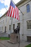 John Harvard Statue in Harvard University Stock Image