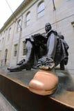 John Harvard Statue in Harvard University Stock Image