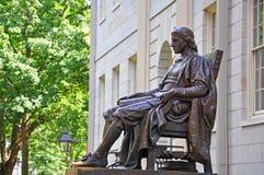 John Harvard Statue na Universidade de Harvard, Boston, EUA Fotografia de Stock Royalty Free