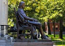 John Harvard staty Fotografering för Bildbyråer