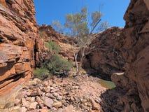 John Hayes rockhole near Trephina Gorge. East MacDonnell ranges near Alice Springs, Northern Territory, Australia 2017 Stock Photography