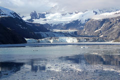 John Hopkins Glacier, het Nationale Park van de Gletsjerbaai, Alaska Stock Foto's