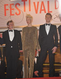 John Hurt & Tom Hiddleston & Tilda Swinton fotografia stock libera da diritti