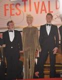 John Hurt & Tom Hiddleston & Tilda Swinton. CANNES, FRANCE - MAY 25, 2013: John Hurt, Tom Hiddleston & Tilda Swinton at gala premiere at the 66th Festival de Royalty Free Stock Photography