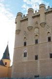 John the II tower, Alcazar of Segovia. East facade of the John the II tower, Alcazar of Segovia Stock Photography