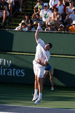 John Isner serve Royalty Free Stock Image