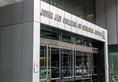 John Jay College de justice pénale photo libre de droits