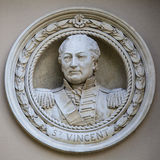 John Jervis Medallion Bust in Greenwich Stock Photography