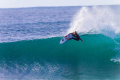 John John Florence het Surfen seq1 rechts Stock Foto