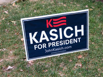 John Kasich dla prezydenta Zdjęcia Royalty Free