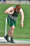 John Kelly from Ireland keeps the ball near the neck Stock Photos