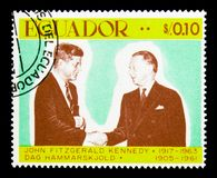 John Kennedy e Dag Hammarskjold, 50th aniversário do serie de JFK, c Fotos de Stock