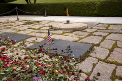 John kennedy and jackie oanasis graves at Arlington National Cem Royalty Free Stock Image