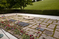 John kennedy and jackie oanasis graves at Arlington National Cem Royalty Free Stock Images