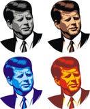 John Kennedy - mi caricatura ilustración del vector