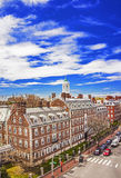 John Kennedy Street and Eliot House belltower of Harvard Univers Stock Photography