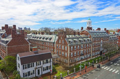 John Kennedy Street and Eliot House belltower in Harvard Univers Stock Photos