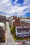 John Kennedy Street in Harvard University Area in Cambridge. Aerial view on John F Kennedy Street in Harvard University Area in Cambridge, Massachusetts, USA Royalty Free Stock Photos