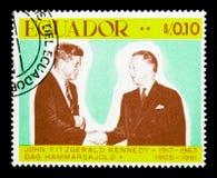 John Kennedy und Dag Hammarskjold, 50. Geburtstag von JFK-serie, c stockfotos