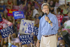 John Kerry addresses audience of supporters Royalty Free Stock Photos