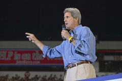John Kerry addresses audience of supporters Stock Image