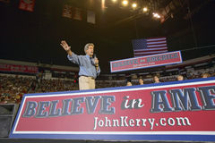 John Kerry addresses audience of supporters Royalty Free Stock Image
