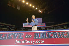 John Kerry addresses audience of supporters Stock Photo