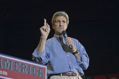John Kerry addresses audience of supporters Stock Photography